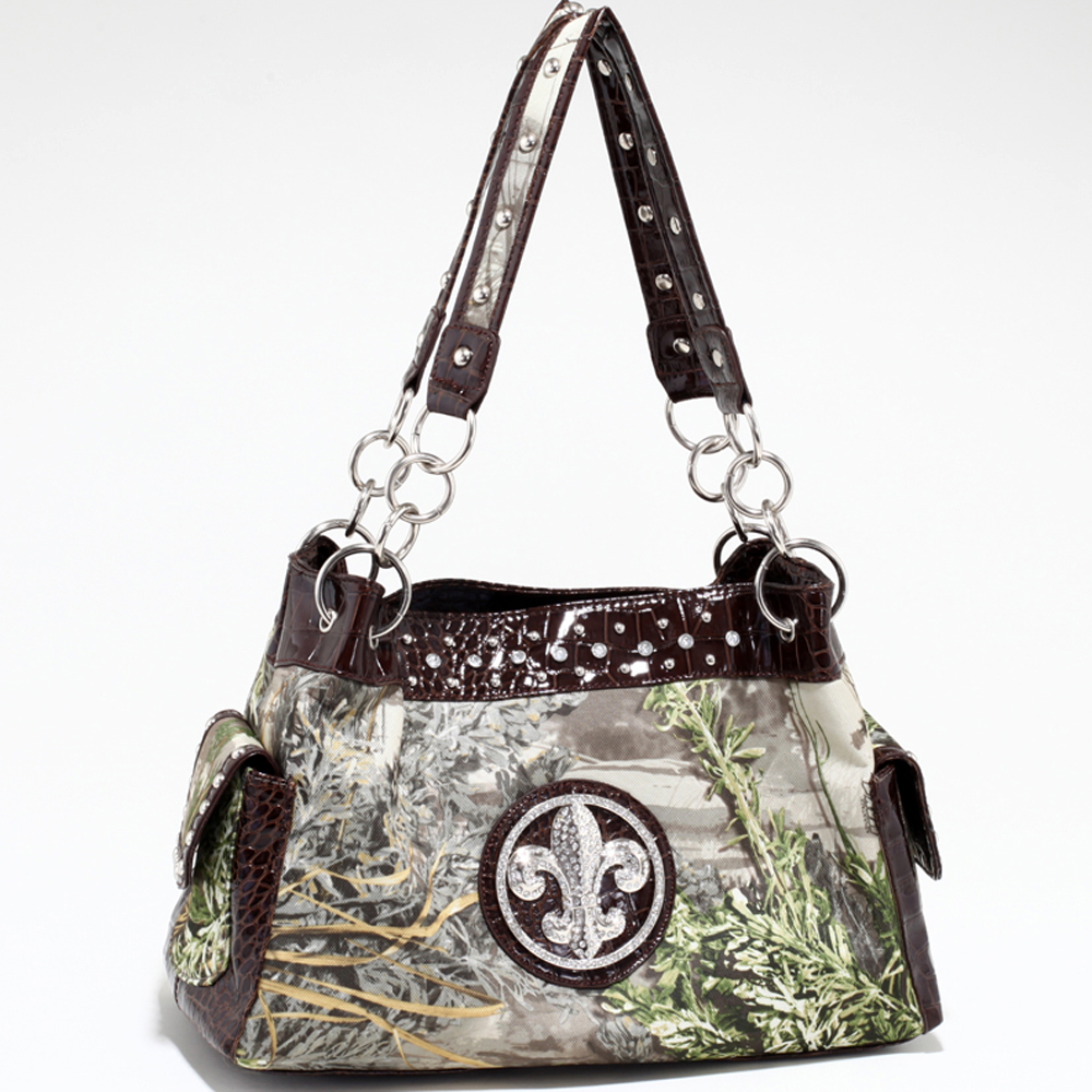 Realtree® Max-1 Camo Fleur-de-Lis Shoulder Bag