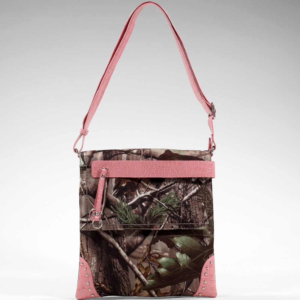 Realtree® APG Camo Tasseled Crossbody with Croco Trim
