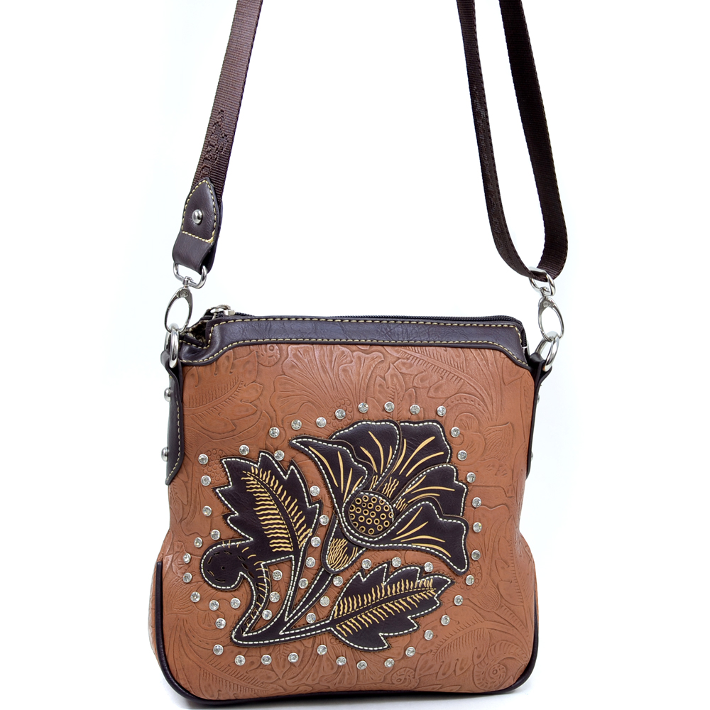 Montana West® Salmonberry Flower Messenger Bag