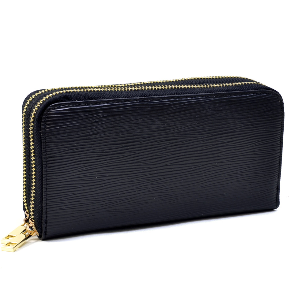Dasein Women's Dual Zip-Around Fashion Wallet with Wrist Strap