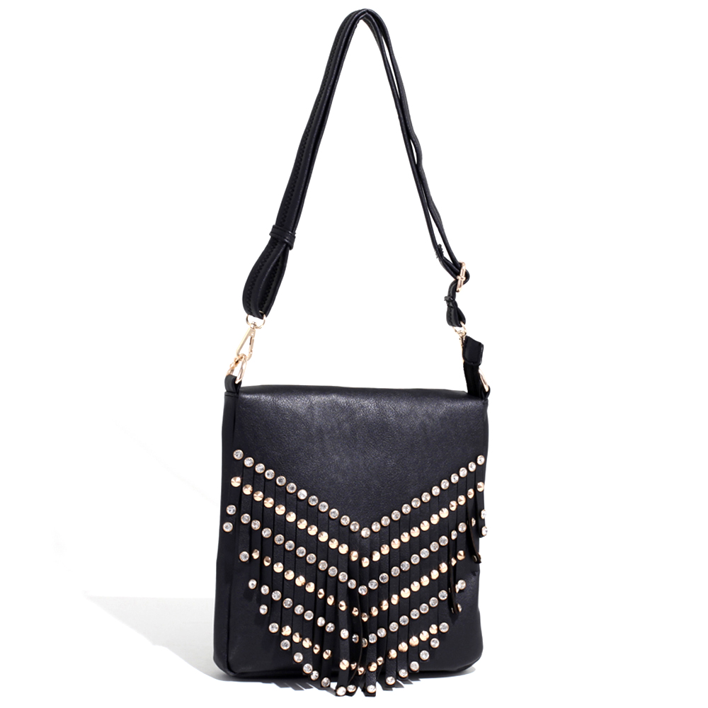 Queen Alliquippa Fringed Messenger Bag