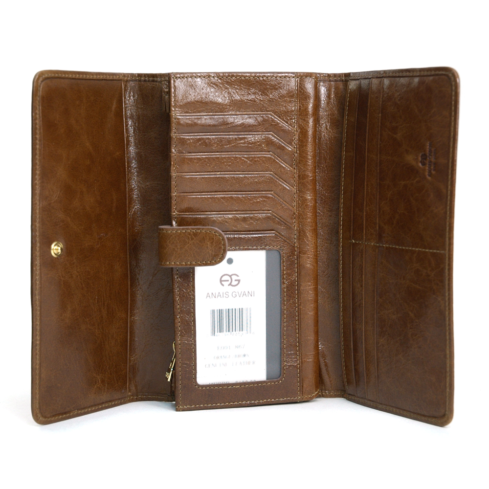 Anais Gvani® Bronx Park Genuine Leather Folded Wallet