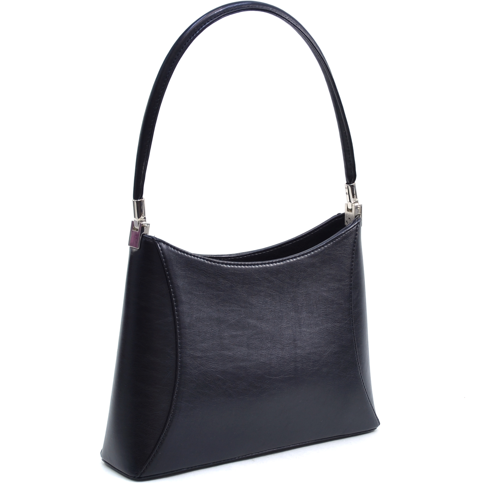 Designer inspired fine textured classic shoulder bag