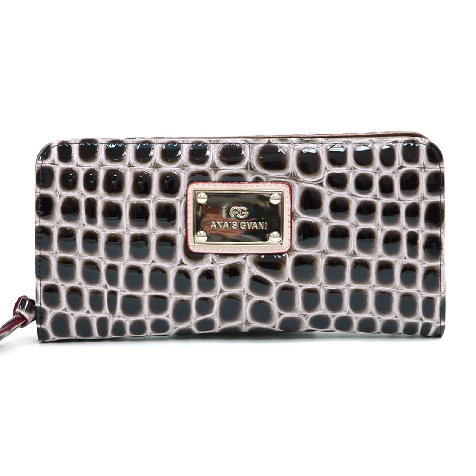 Anais Gvani® Battery Park Classic Croco Zip Around Wallet