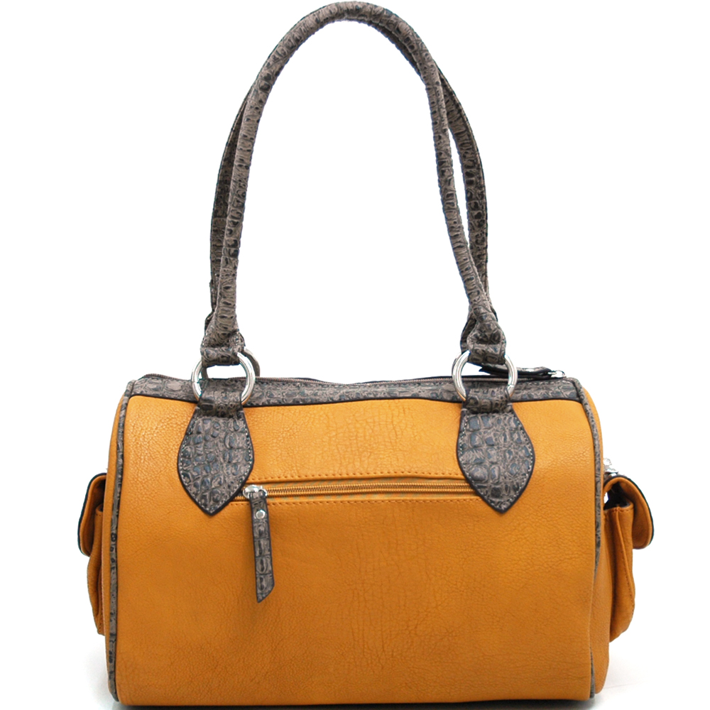 Cross of the Circuit Rider Barrel Satchel