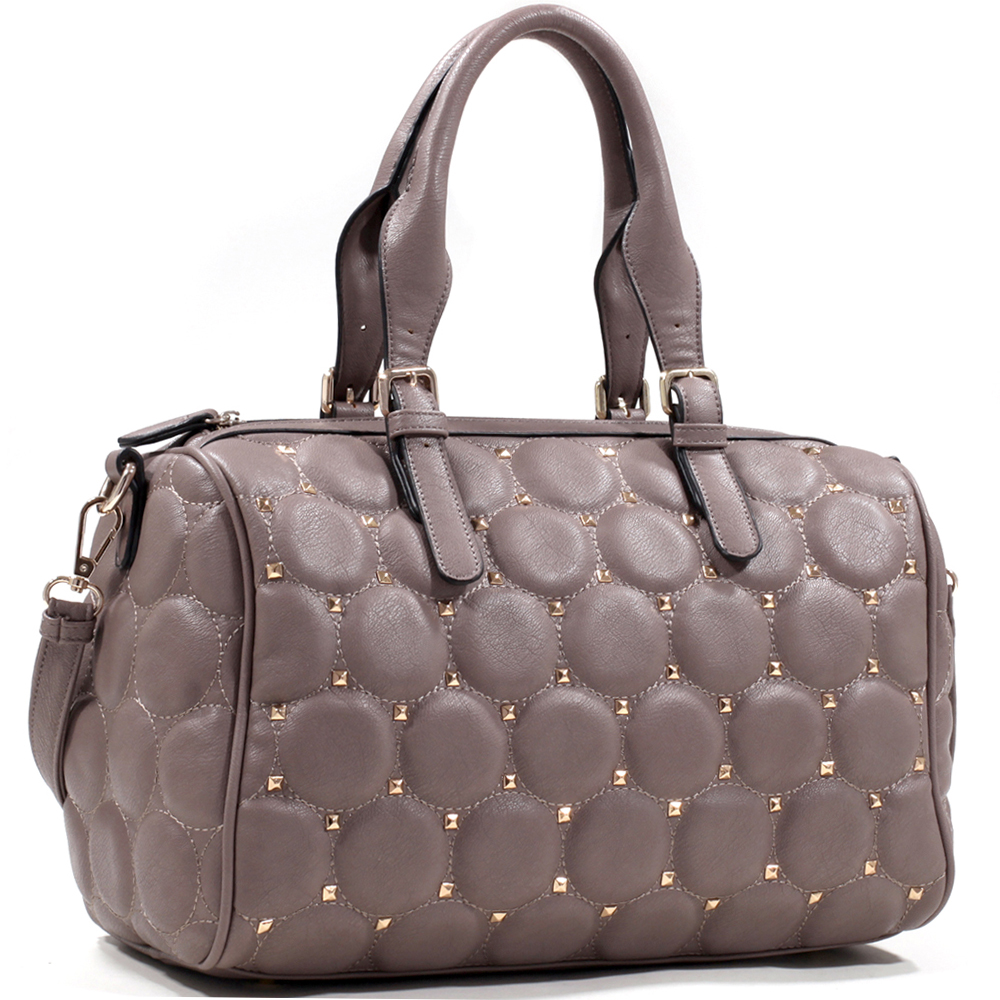 Emperia® Quilted Satchel With Pyramid Studs