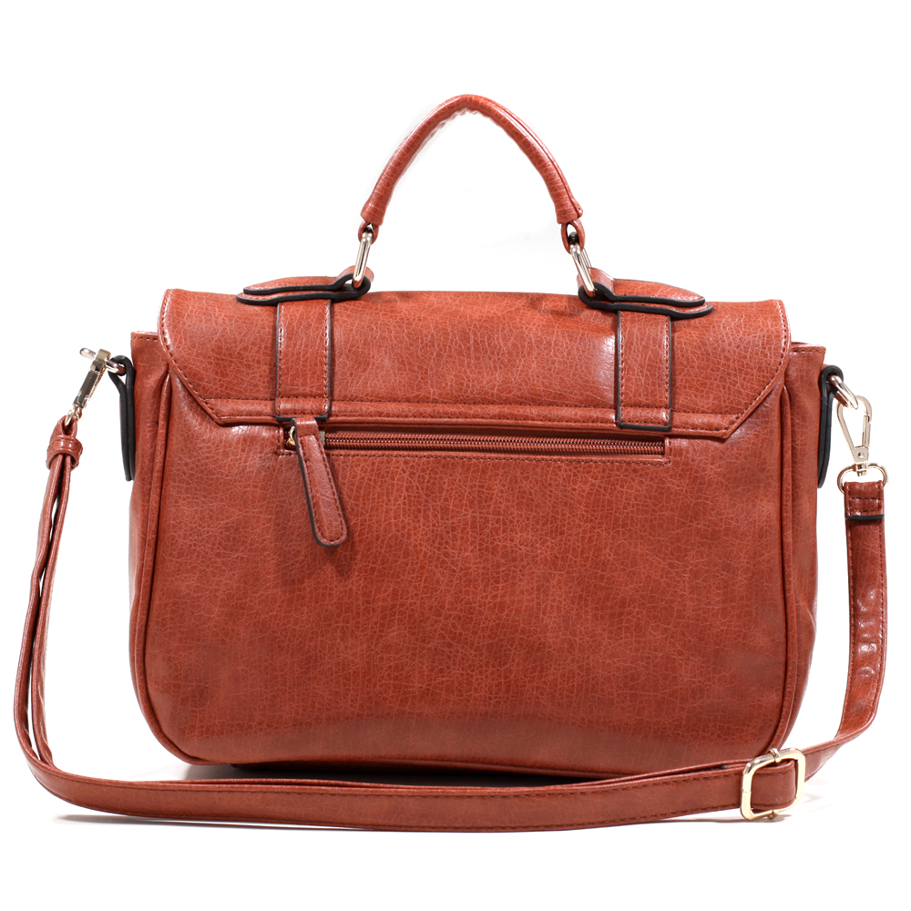 Emperia Belted Satchel with  Closure and Bonus Strap