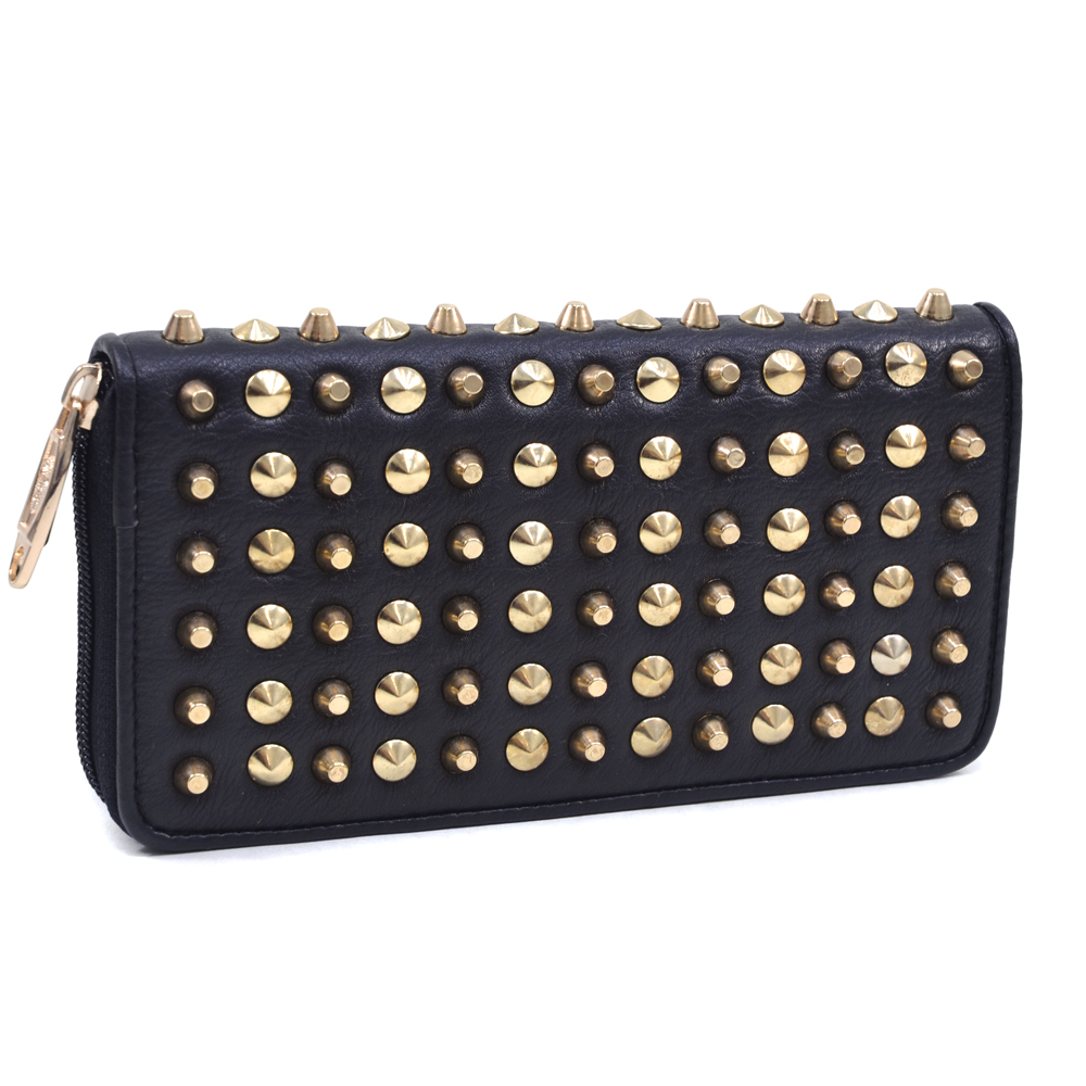 U Style® Alternating Cone Studded Wallet