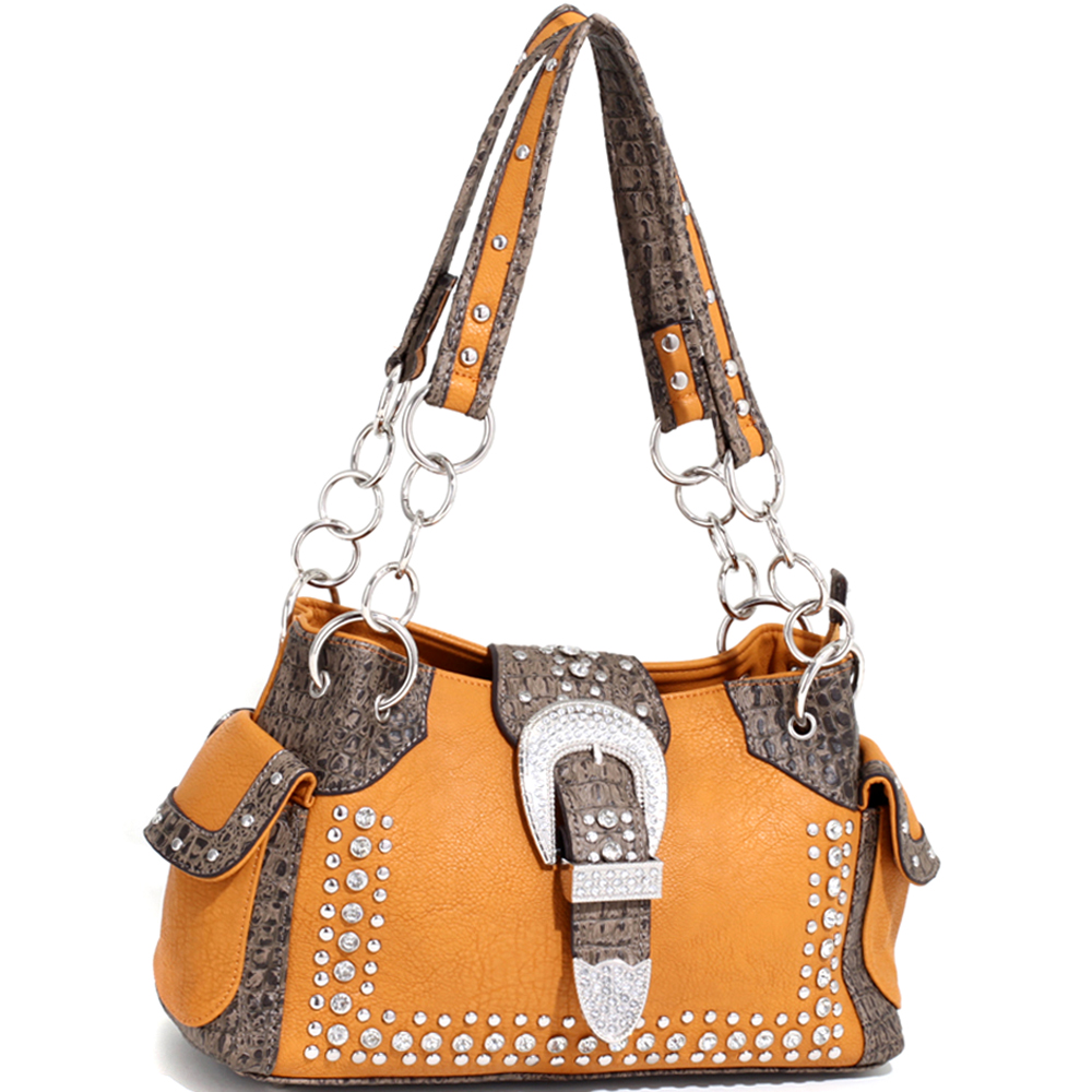 Buckeroo's Buckle Chain Handle Shoulder Bag