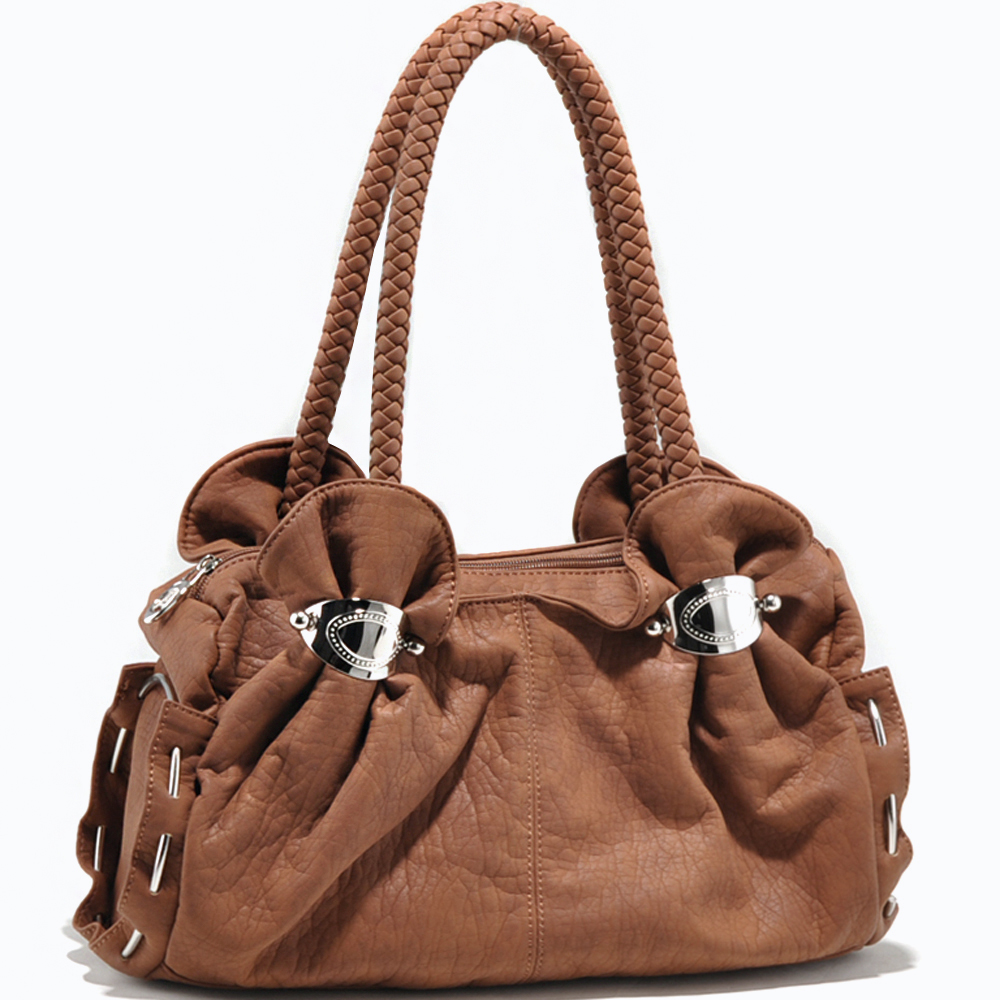 Alyssa® Cinched Shoulder Bag with Braided Straps