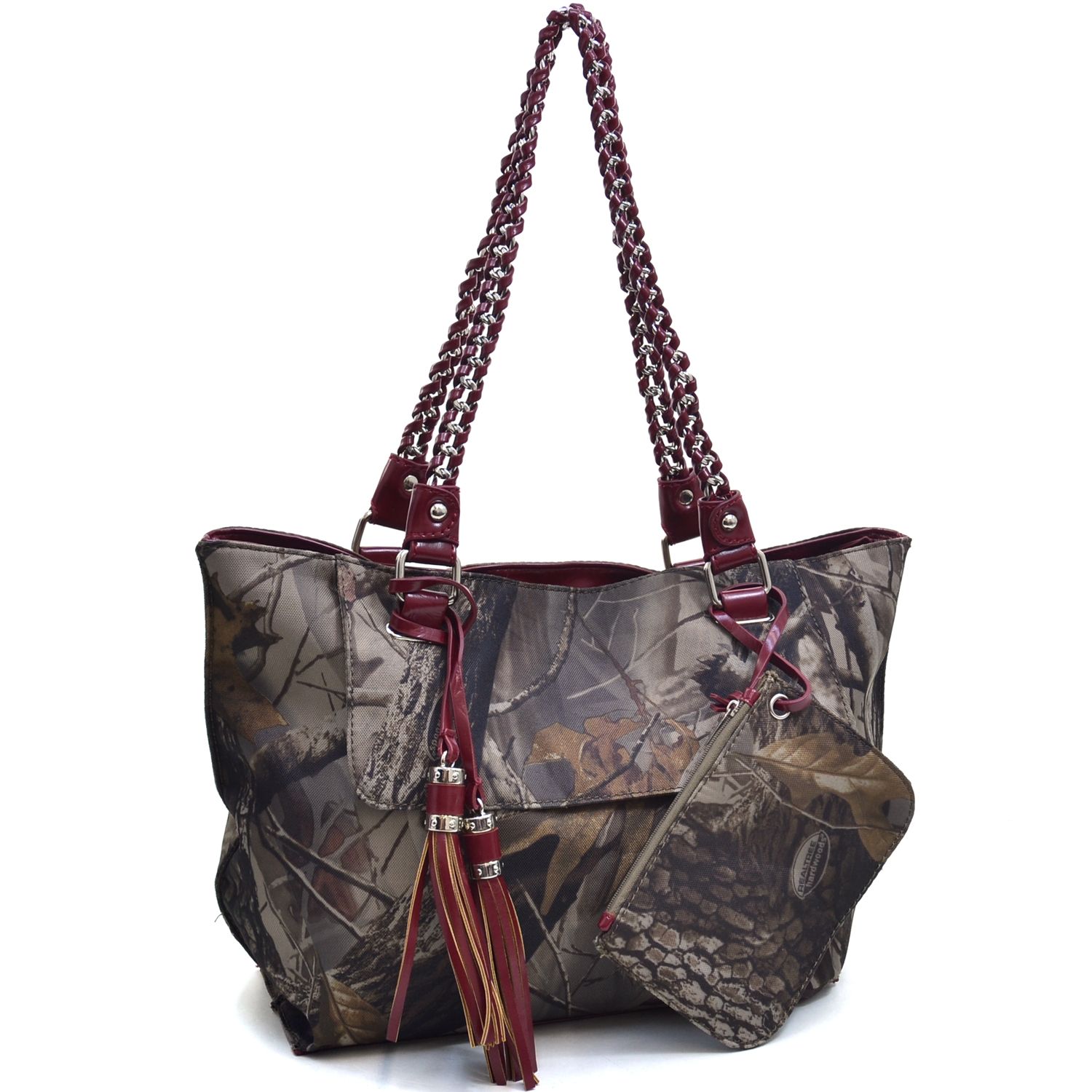 Realtree® Hardwoods HD Camo Large Chain Handle Tote With Coin Purse