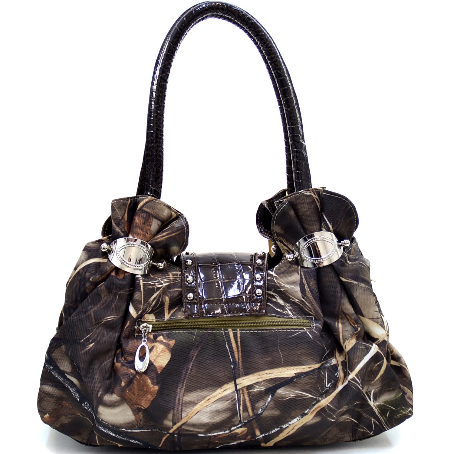 Realtree® Max-4 Camo Rhinestone Cross Satchel