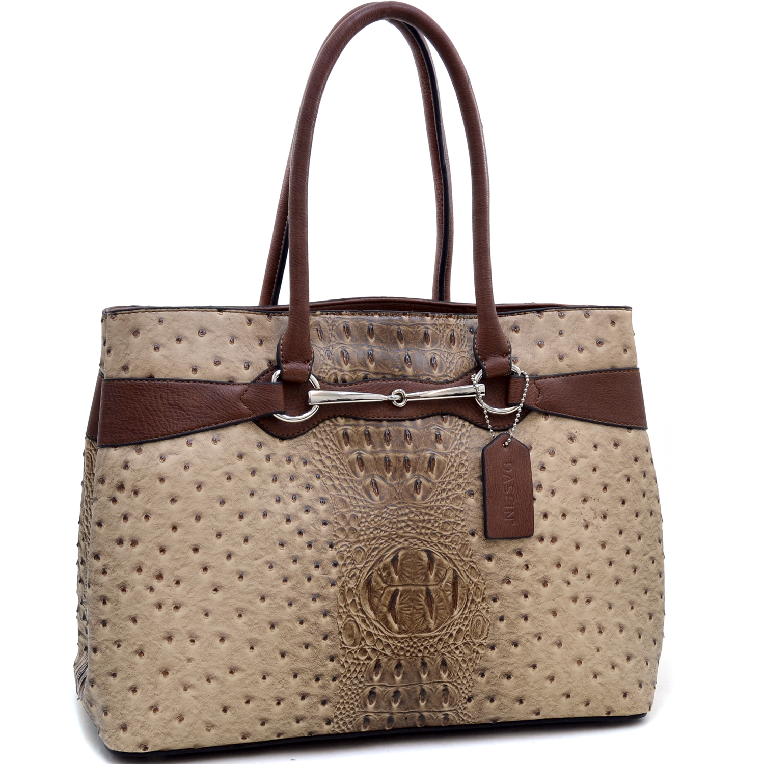 Loose Ring Snaffle Ostrich Texture Tote