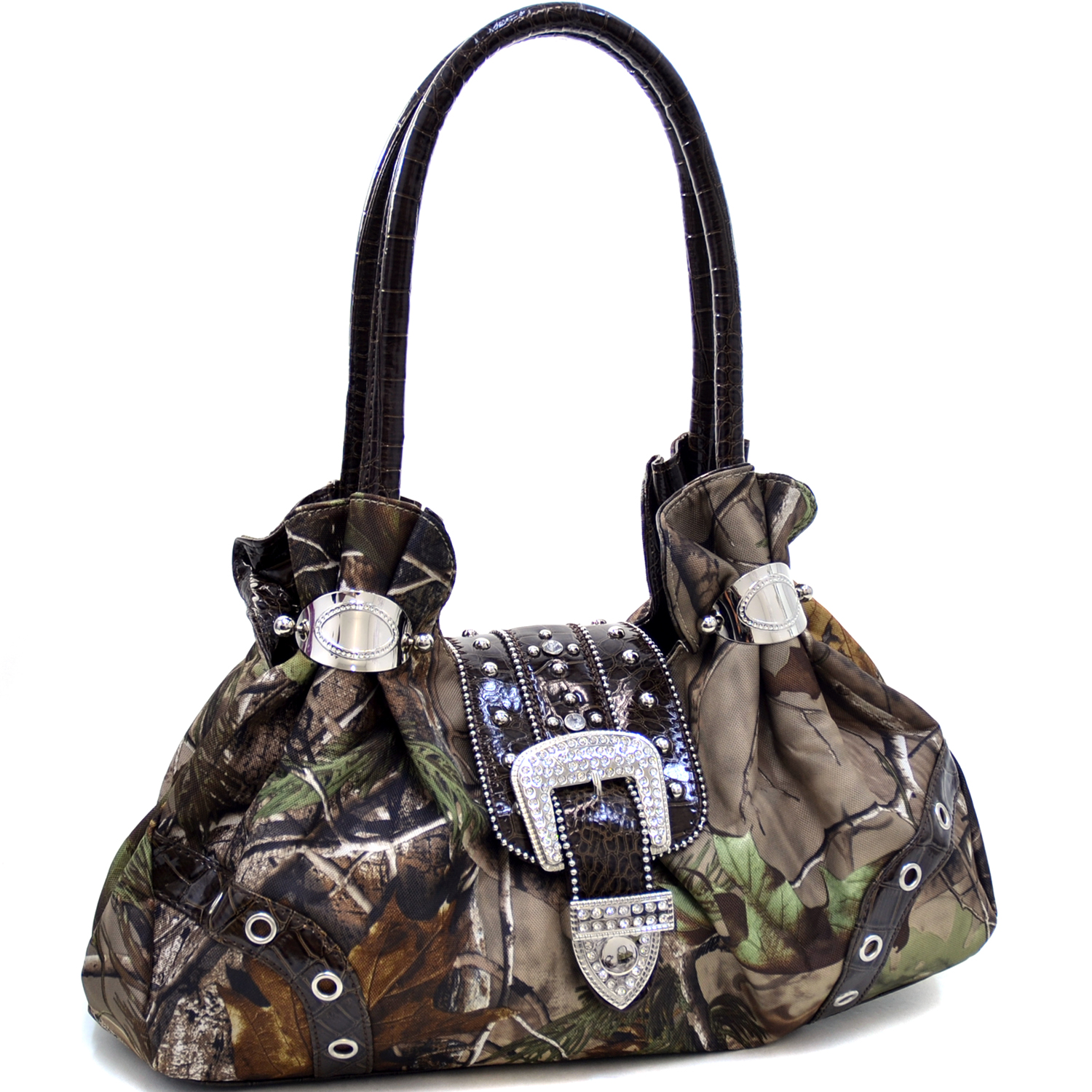 Realtree® APG Camo Rhinestone Buckle Cuffed Shoulder Bag