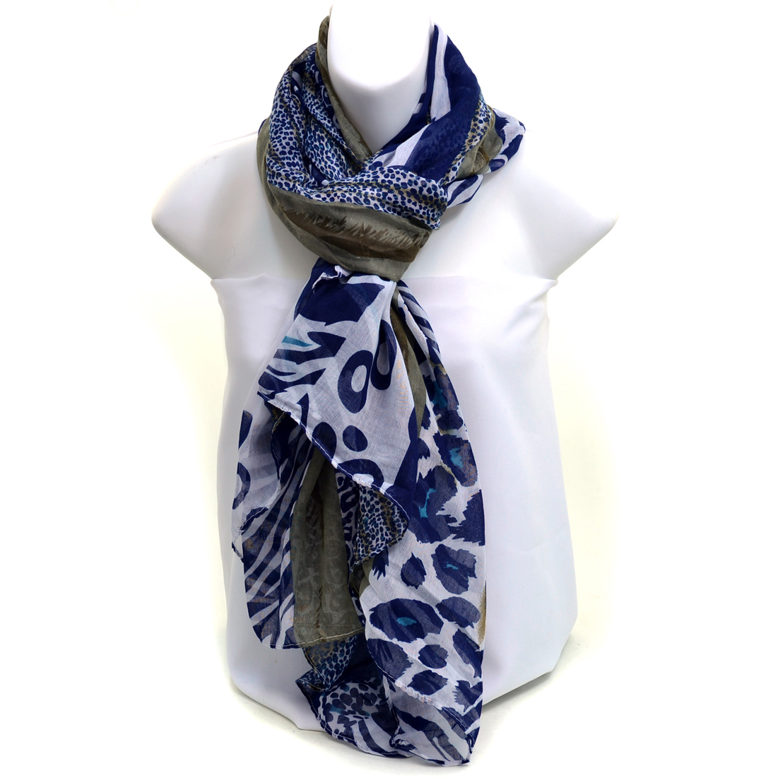 Two-tone Safari Inspired Fashion Scarf - /Brown