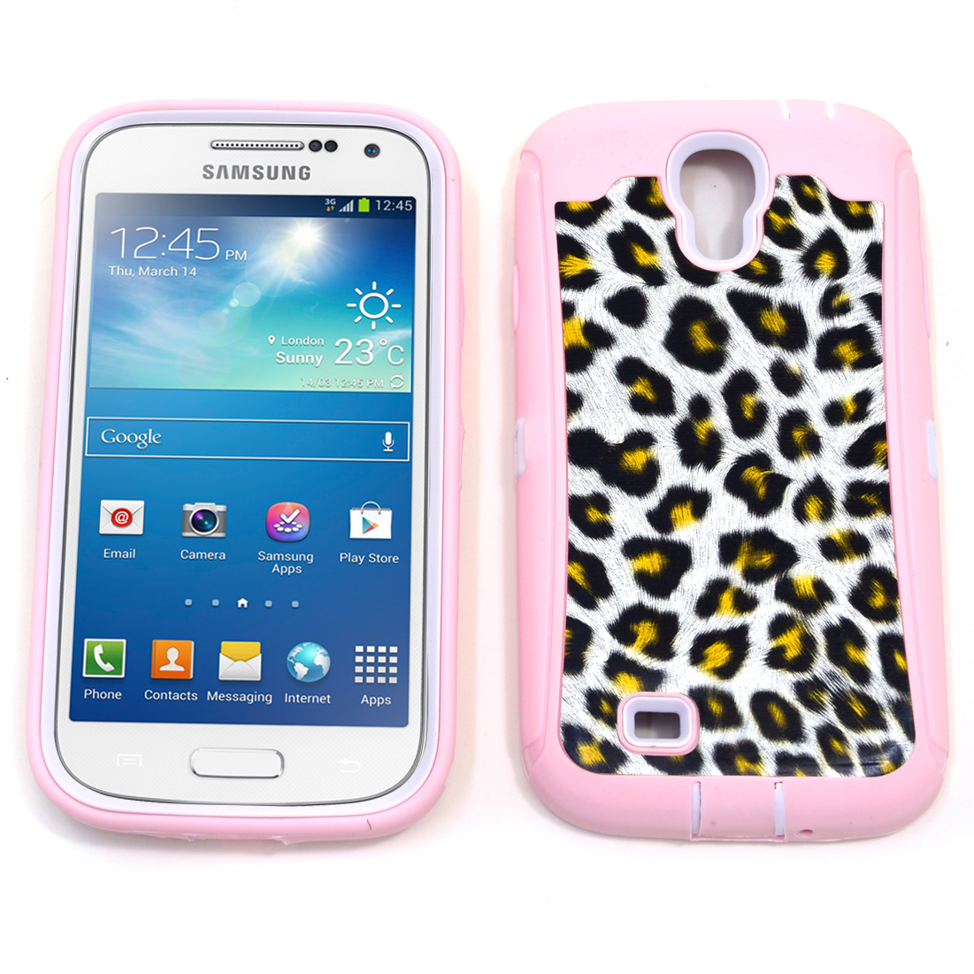 Dasein® Pink Leopard Print Case for Samsung Galaxy S4