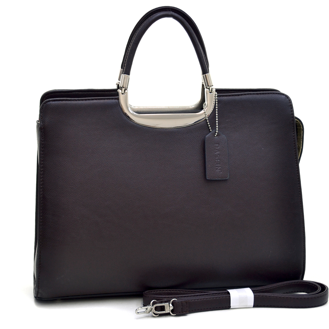 Dasein® Classic Faux Leather Fashion Briefcase