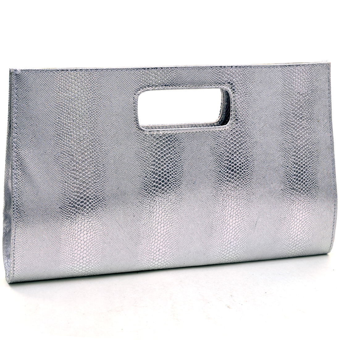 Dasein® Snakeskin Textured Evening Clutches With Kiss Design