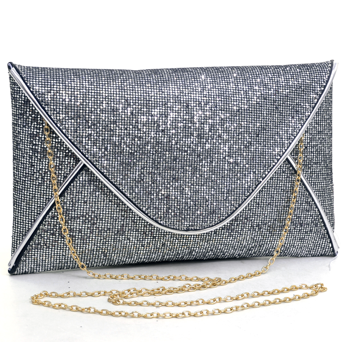 Dasein® Glamorous Metallic Sparkle Envelope Clutch