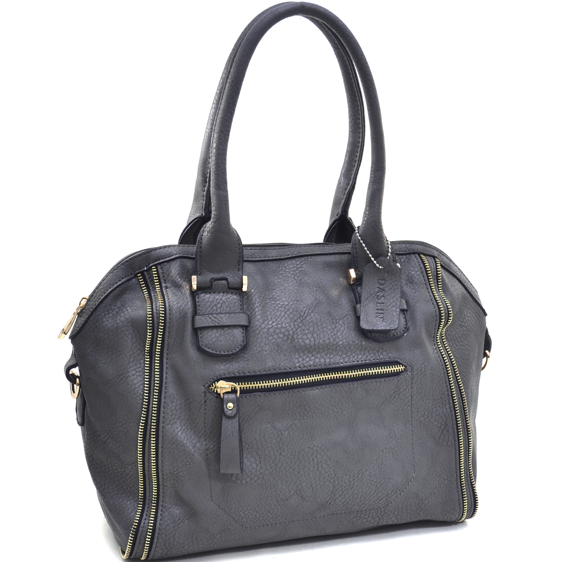 Dasein® Zip Lined Shoulder Bag