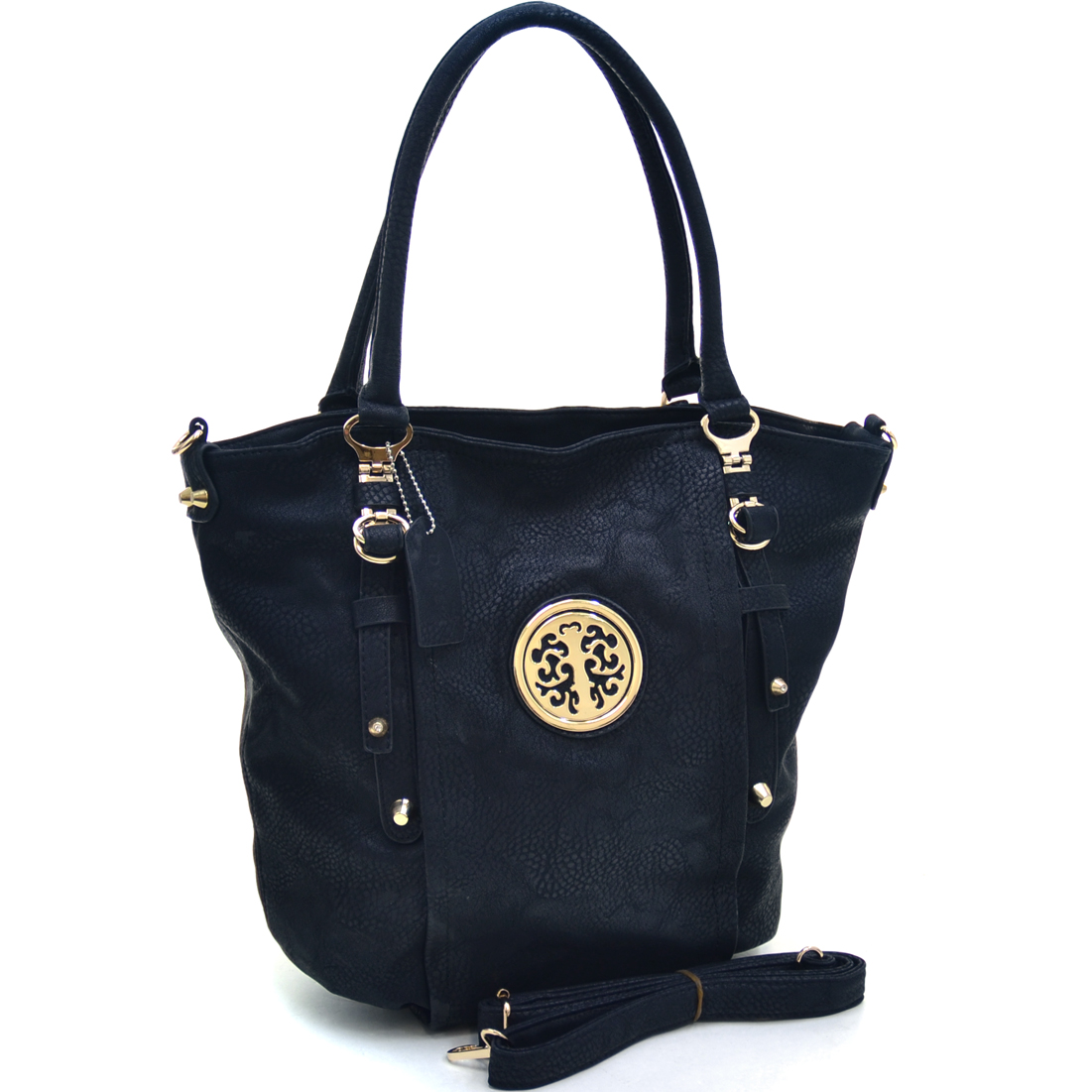Dasein® Belted Gold Kissed Tote