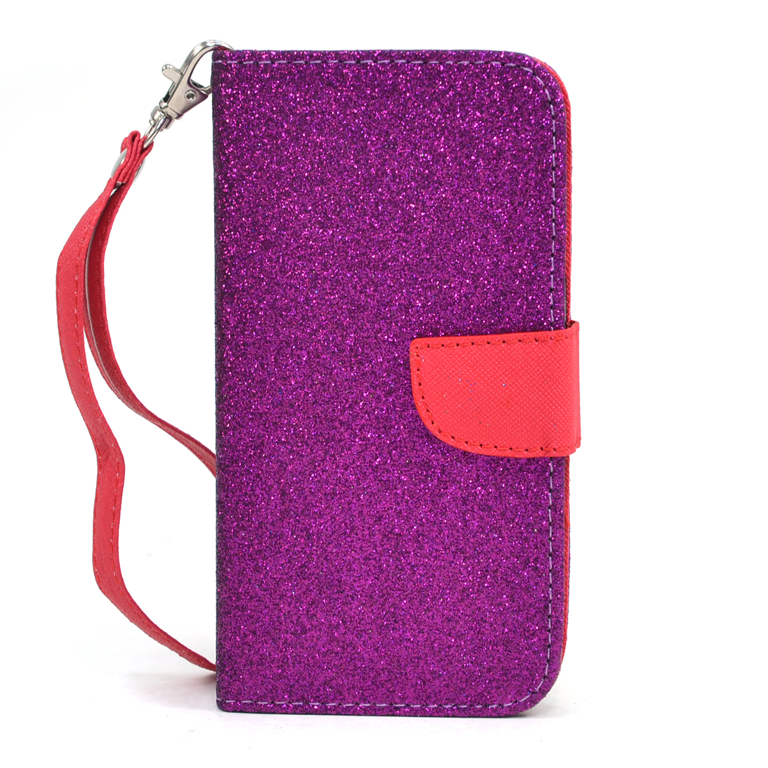Dasein® Metallic Glitter Cell Phone Case With Wrist Strap for Samsung Galaxy S4
