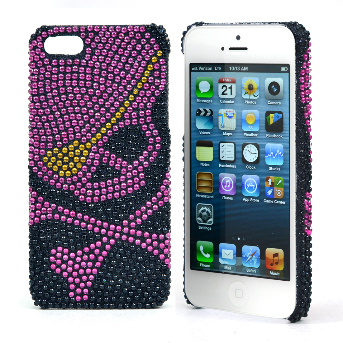 Dasein® Skull Rhinestone Embellished Cell Phone Case for iPhone 5