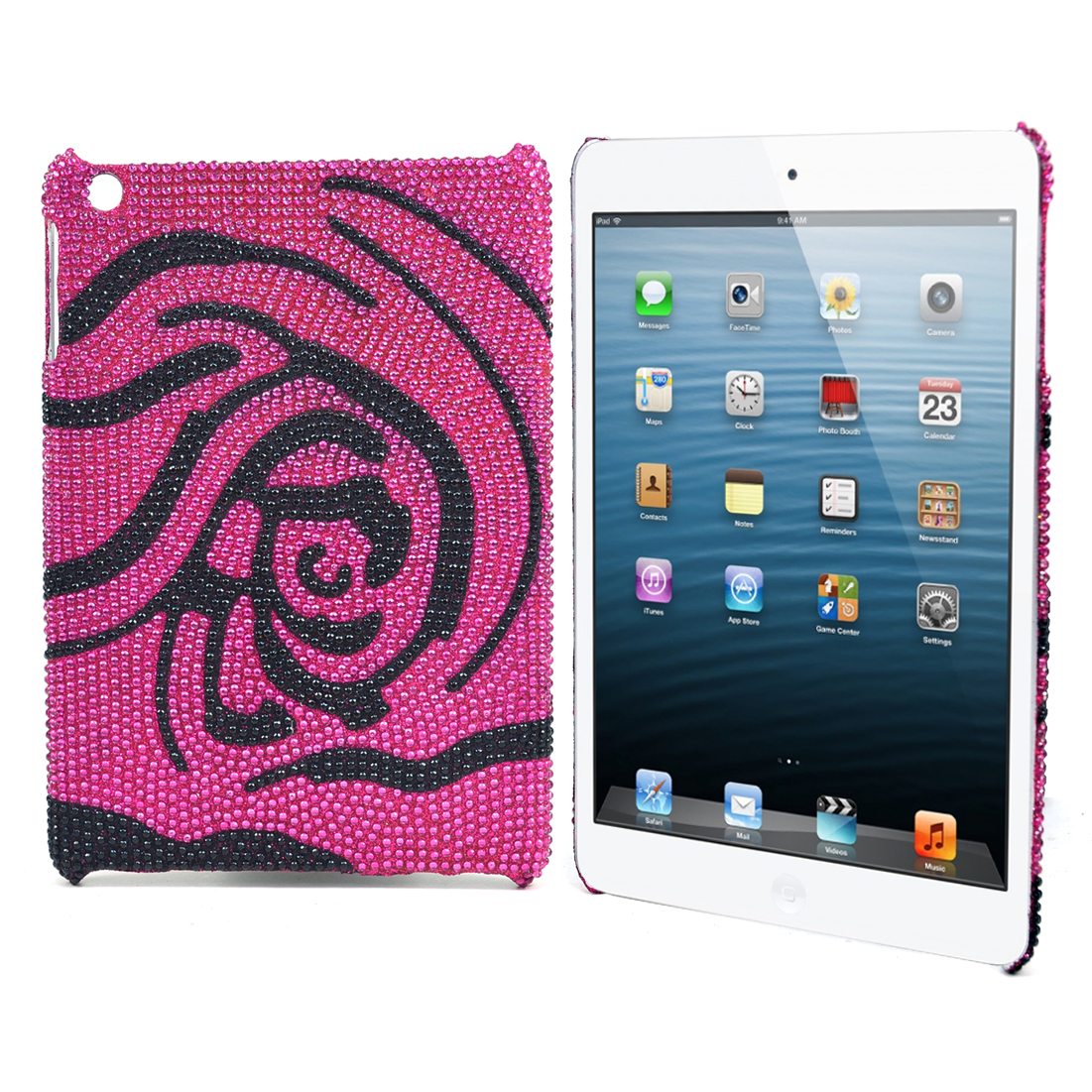 Dasein® Rhinestone Embellished Rose iPad Mini Case