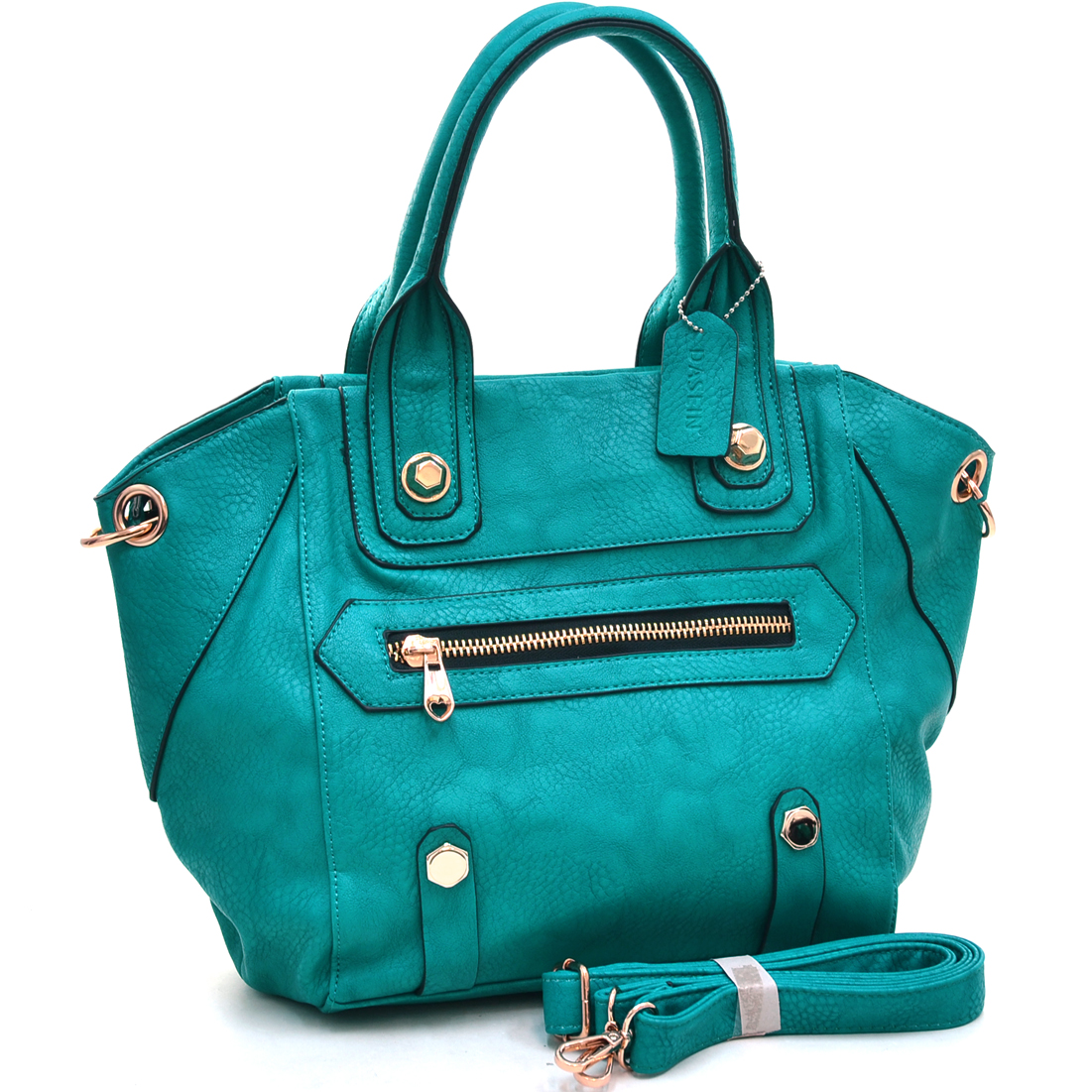 Dasein® Classic Satchel Bag With Chunky Studs
