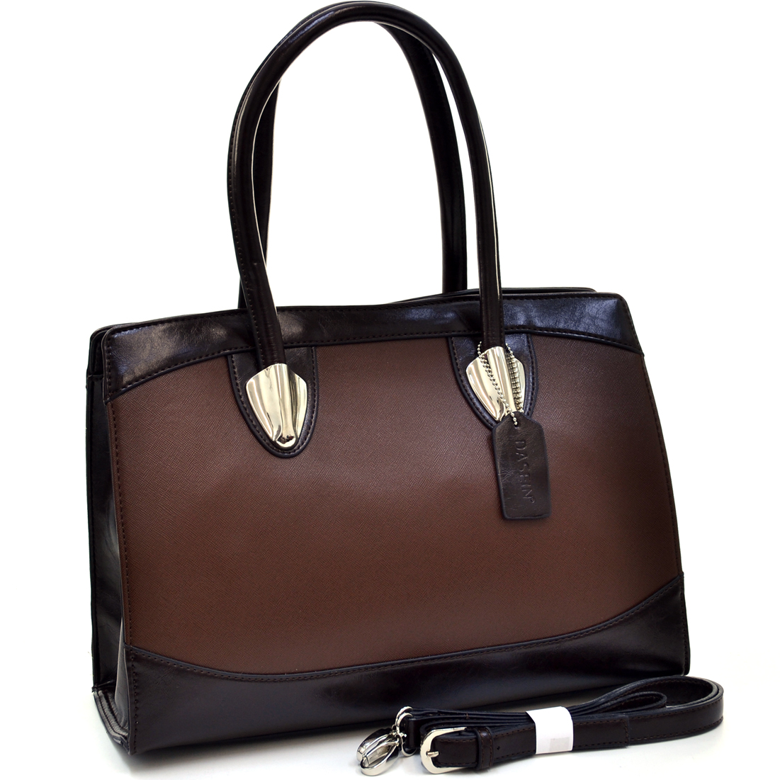 Dasein® Classic Chic Two Tone Shoulder Bag
