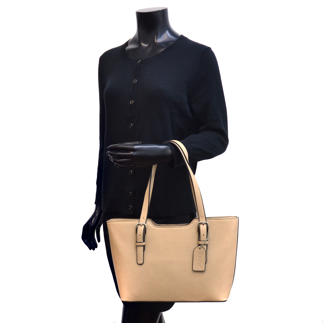 Dasein® Classic Chic Faux Leather Shoulder Bag