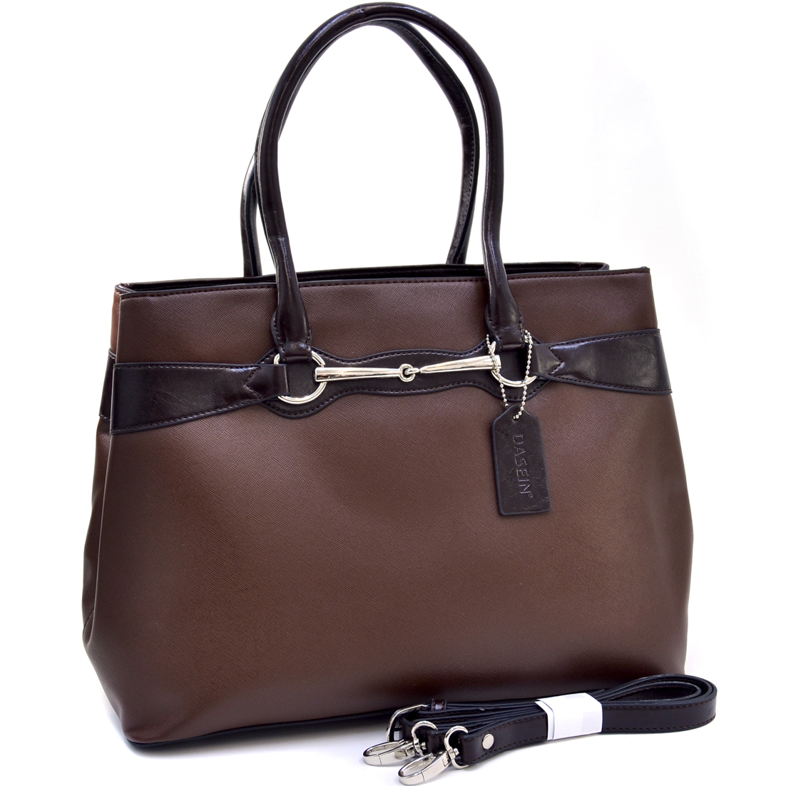 Loose Ring Snaffle Two Tone Shoulder Bag