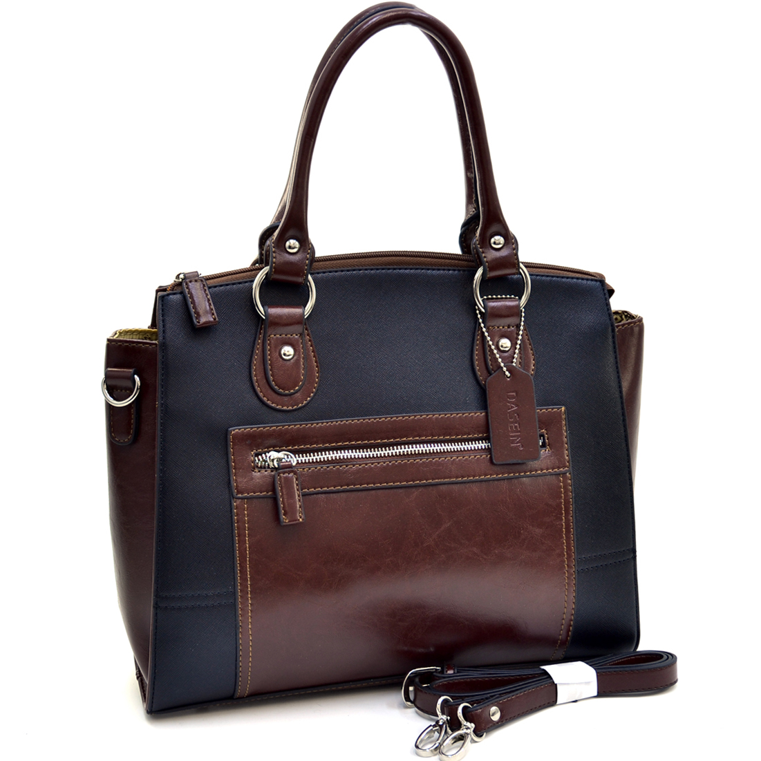 Dasein® Square Two Tone Satchel
