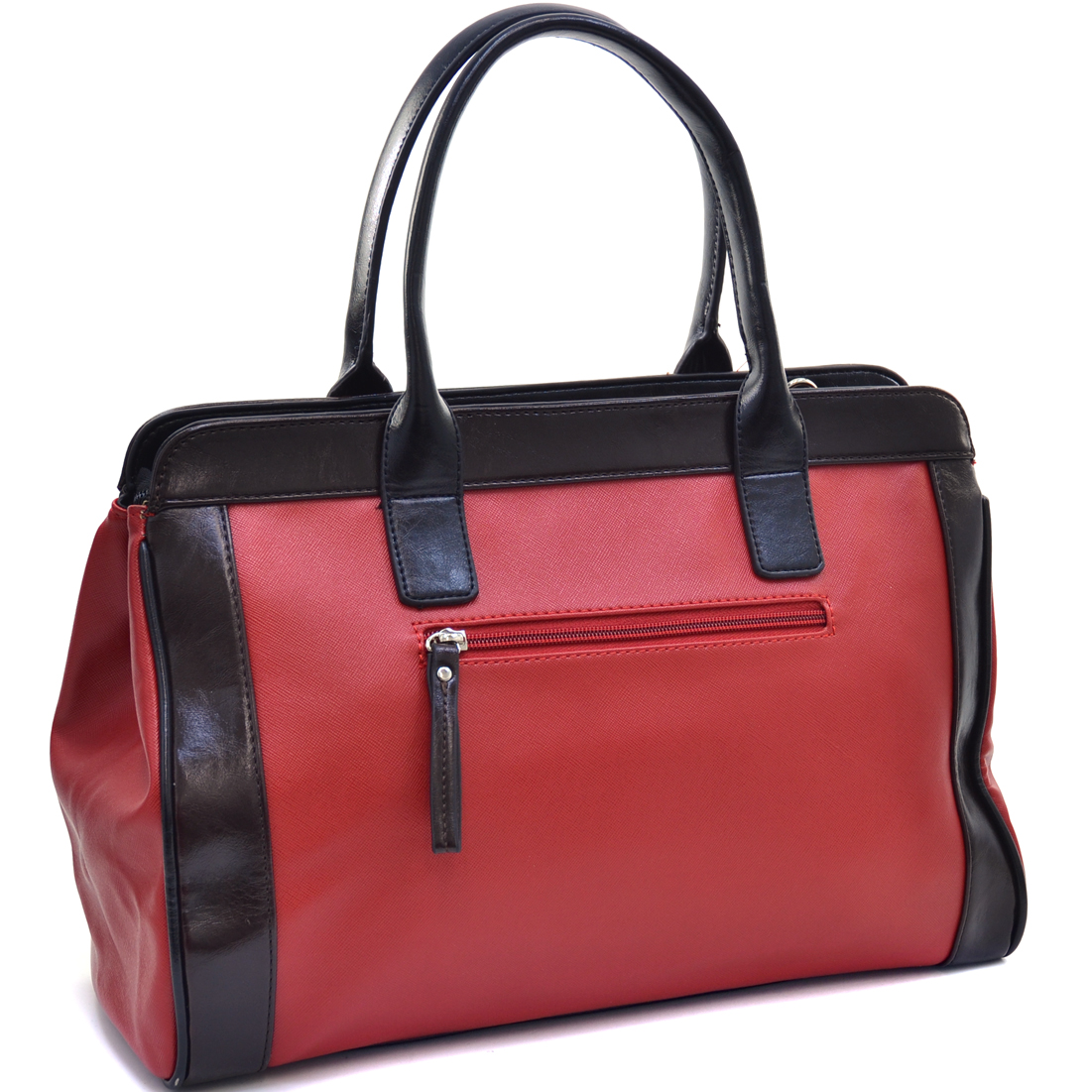 Dasein® Sharp Two Tone Satchel