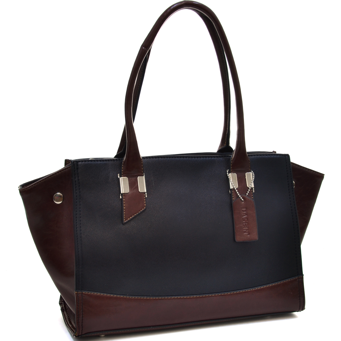 Dasein® Convertible Two Tone Winged Tote