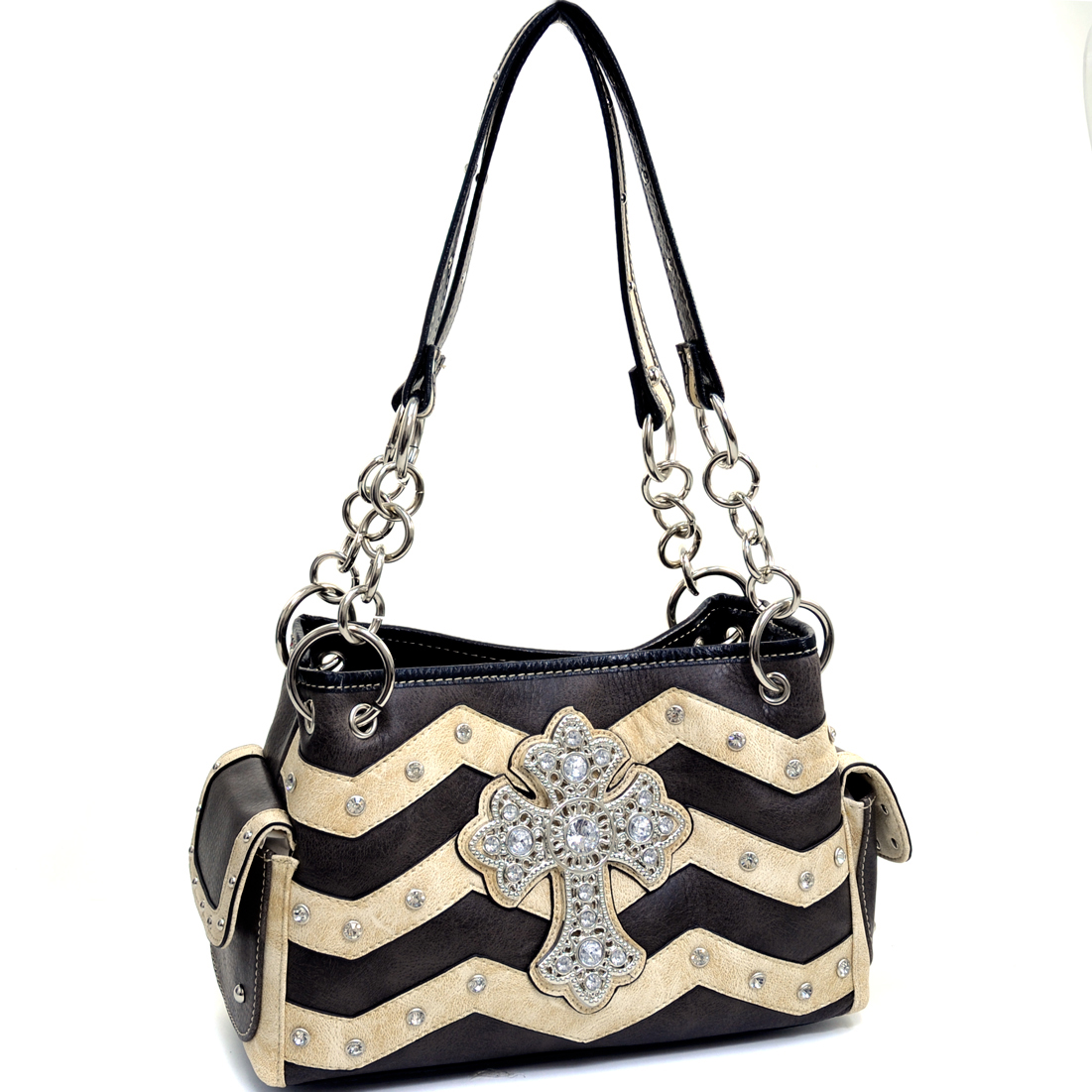 Reverence Chevron Satchel