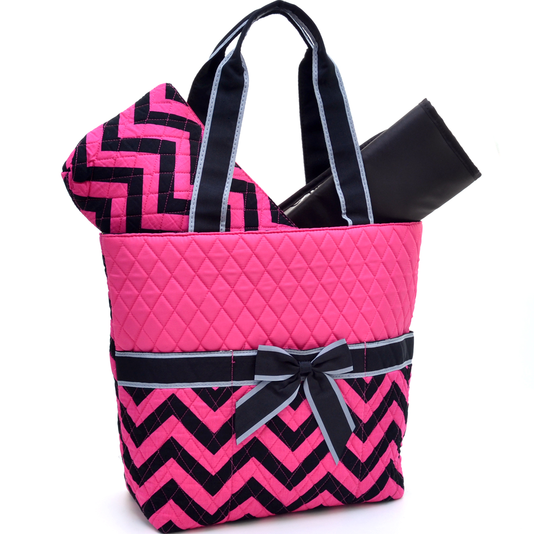 Rosen Blue™ Chevron Print Diaper Bag 3-Piece Set