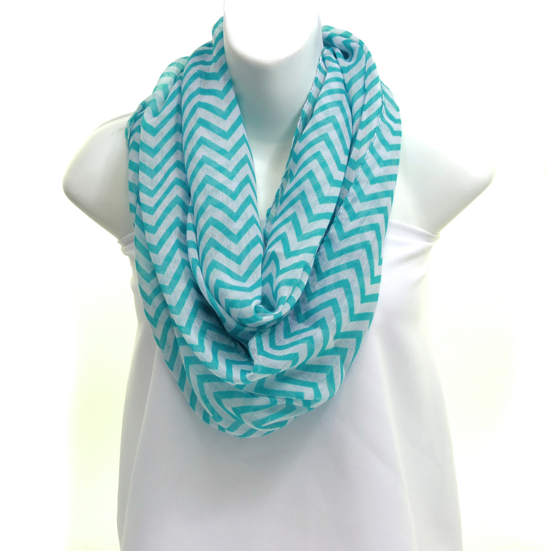 Sheer Chevron Loop Scarf
