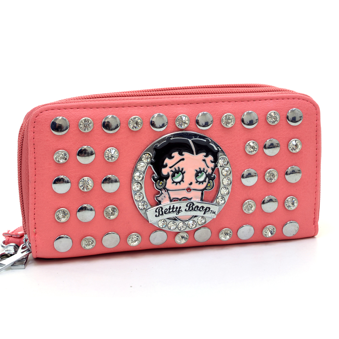Betty Boop® Rhinestone Studded Zip Around Wallet