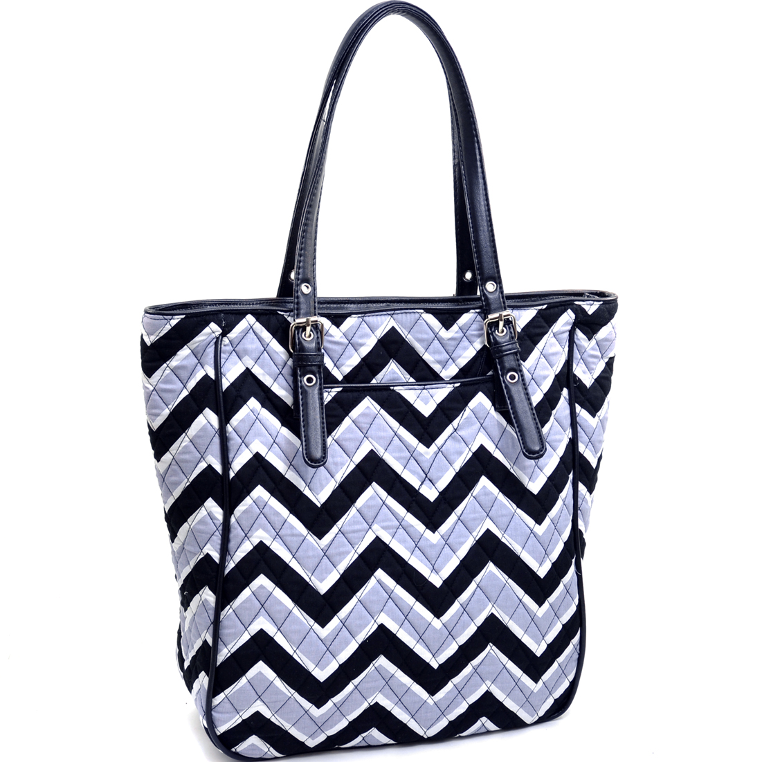 Rosen Blue™ Quilted Neon Chevron Print Weekend Tote