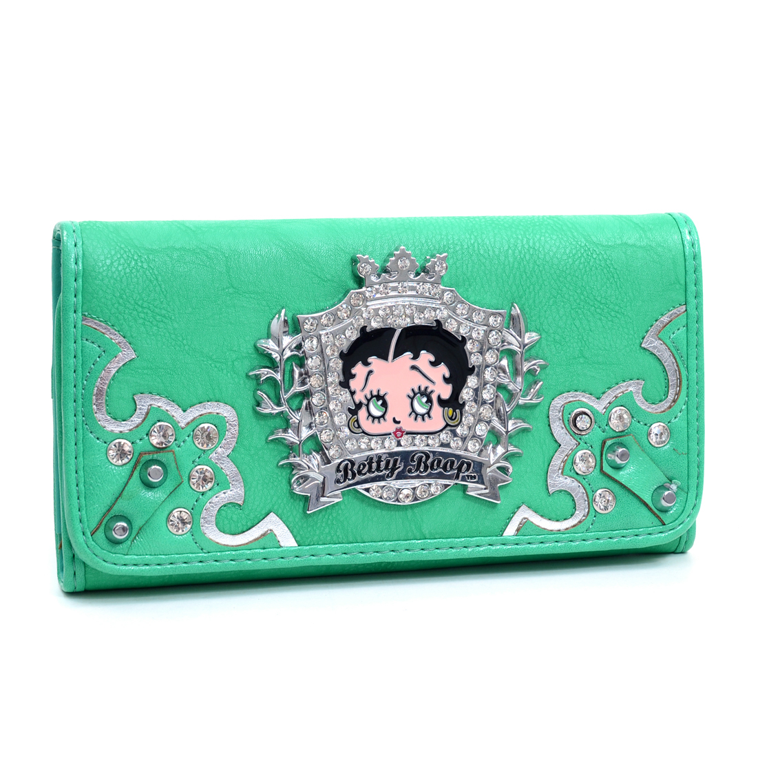 Rhinestone Crest Betty Boop® Checkbook Wallet