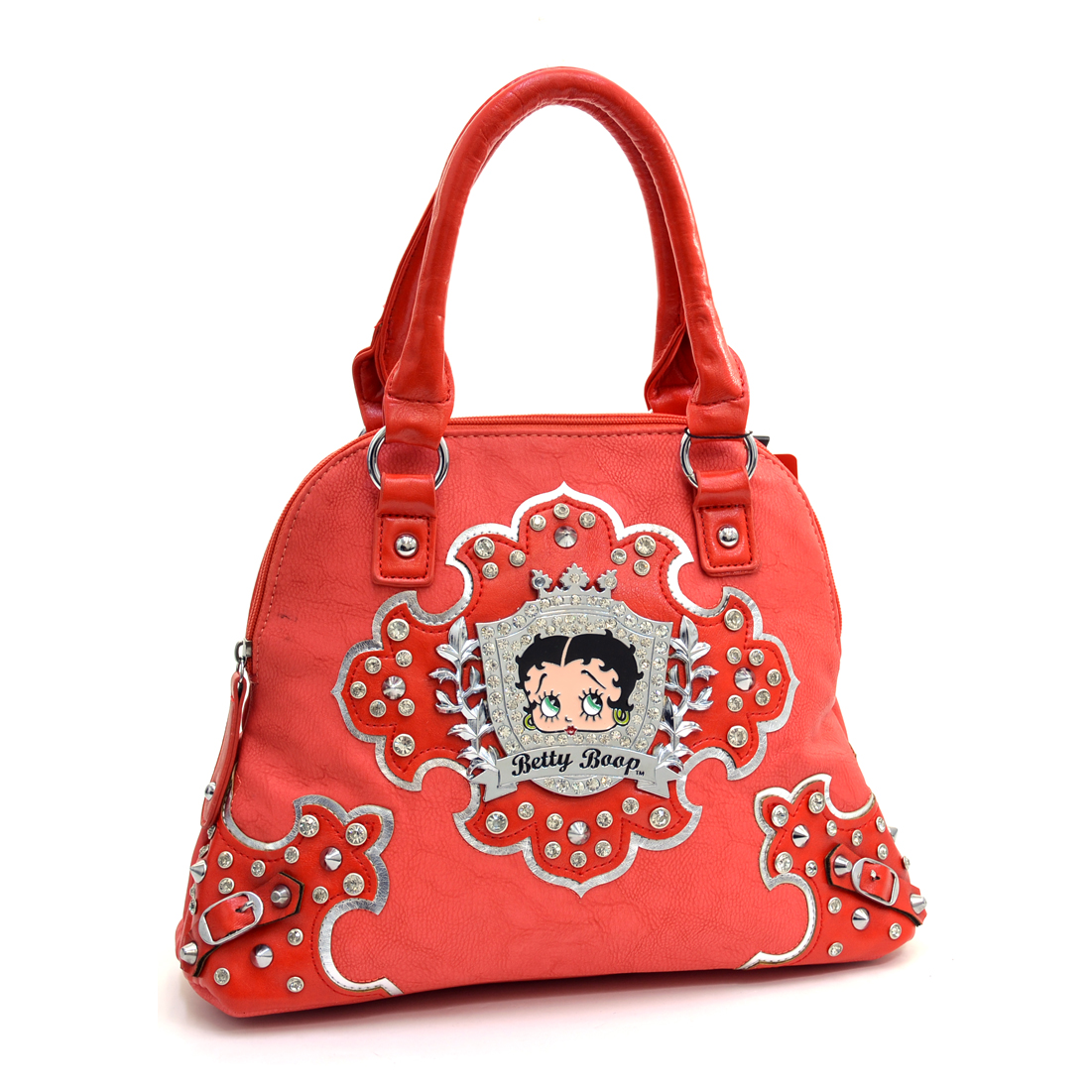 Betty Boop® Petite Satchel With Rhinestone Crest