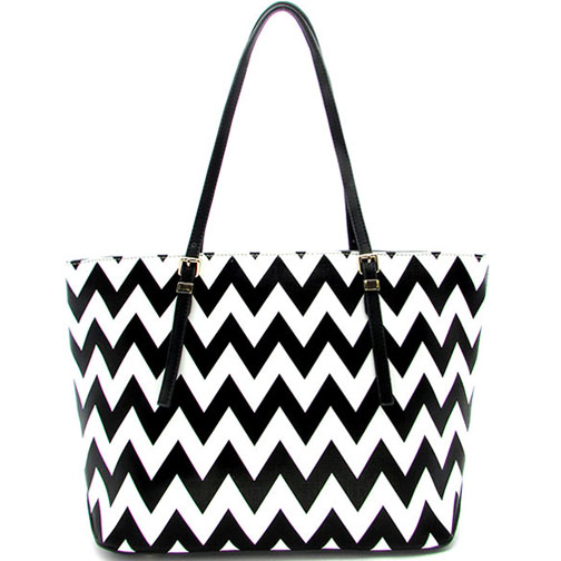 Chevron Printed Fashion Tote