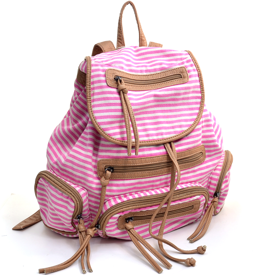 Stripe Canvas Backpack