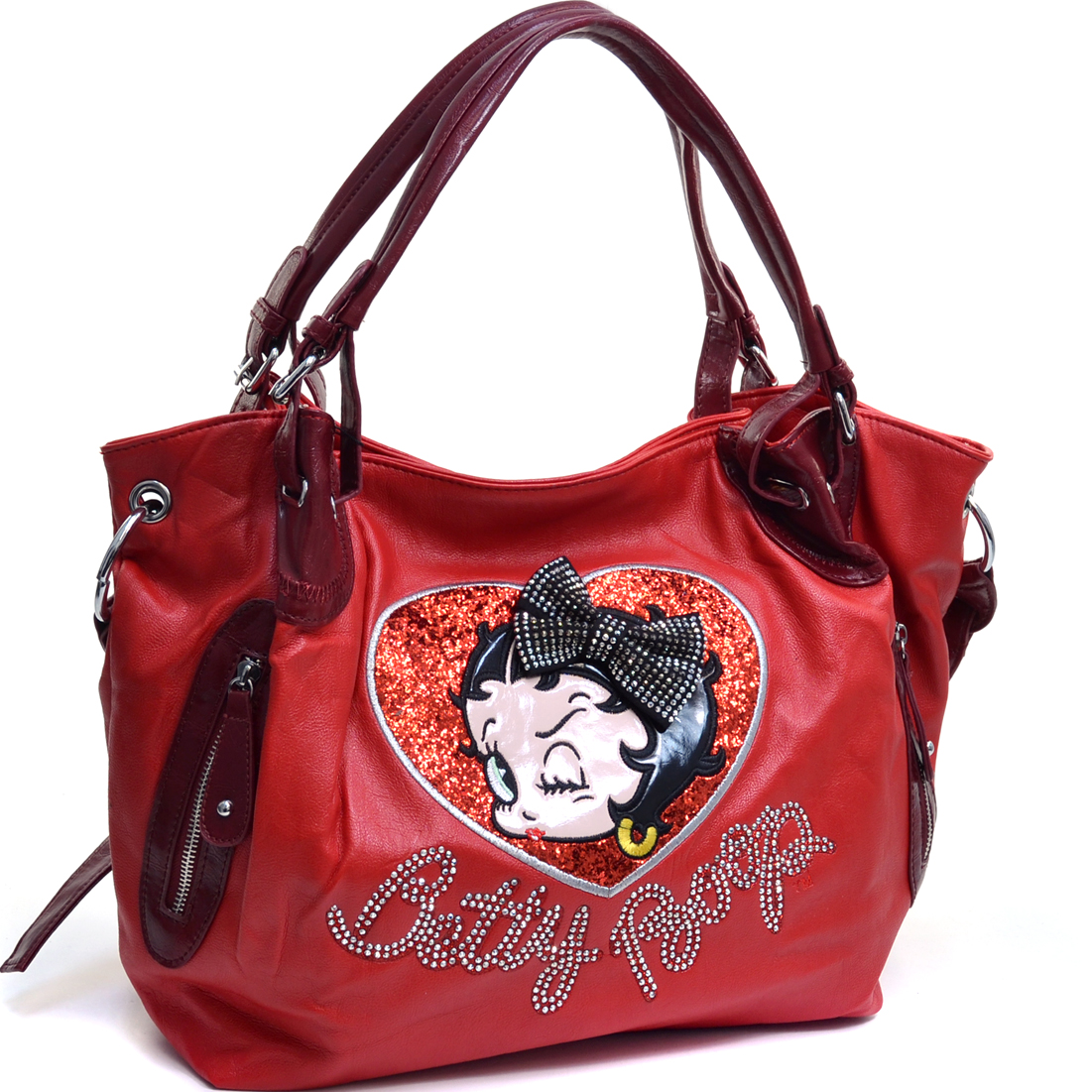 Betty Boop® Shoulder Bag with Rhinestone Bow