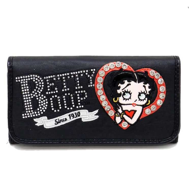 Rhinestone Heart Betty Boop® Checkbook Wallet