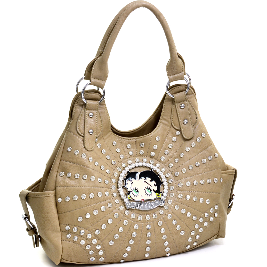 Betty Boop® Rhinestone and Multi-Studded Shoulder Bag