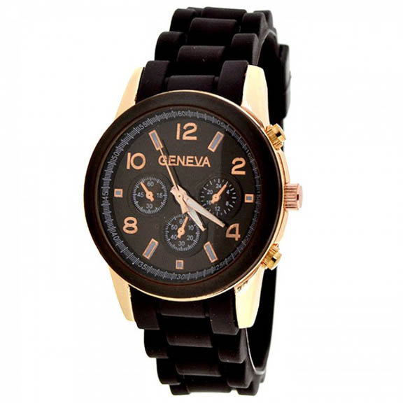 Classic Snap-Down Round Face Cuff Watch