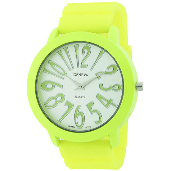 Large Face Silicone Cuff Watch