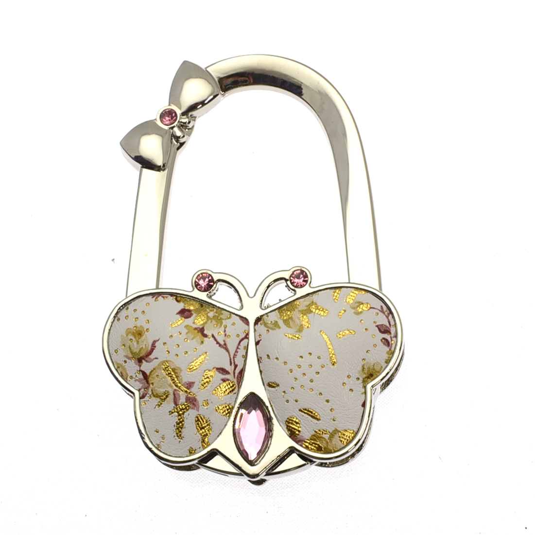 Foldable Vintage Floral Teardrop Jewel Purse Hanger